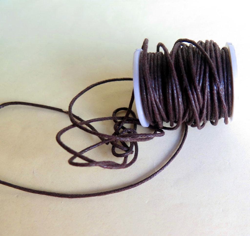 10 METRI Cordino cerato marrone  1 mm  FCO90