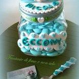 Barattolo porta confetti per nascita battesimo primo compleanno
