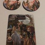 """Orecchini """"Alice in Wonderland"""" fatti a mano con le lattine + magnete omaggio"""