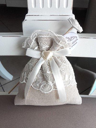 sacchetto matrimonio porta confetti