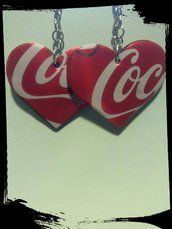 Orecchini fatti a mano con lattine Coca-Cola