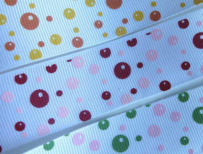 3 yard Nastro grosgrain Pois Mix  NA12