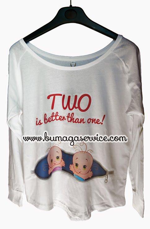 Maglietta premaman per gravidanze gemellari