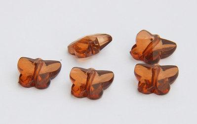 5 Perle farfalla MARRONE PRL154