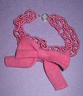 Bracciale fiocco rosa