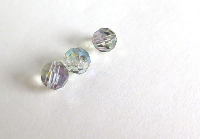 10 Perle sfaccettate 6 mm CRYSTAL PRL156