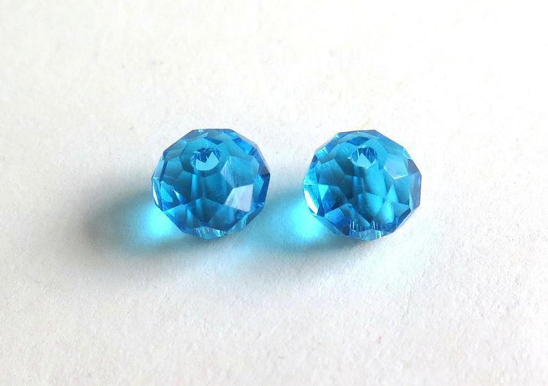 10 Perle sfaccettate azzurro 10 mm PRL162