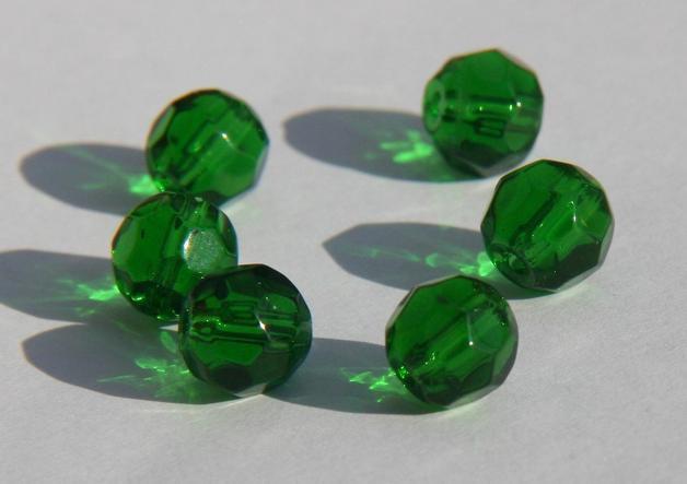 10 Perle sfaccettate verde 8 mm PRL168