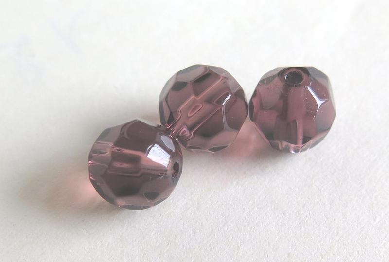 10 Perle sfaccettate viola 8 mm PRL172