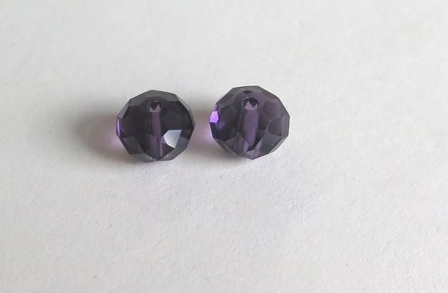 10 Perle sfaccettate 8 mm CRYSTAL blu PRL175