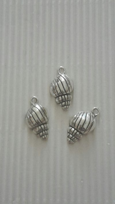 6 charms conchiglia 25x12mm