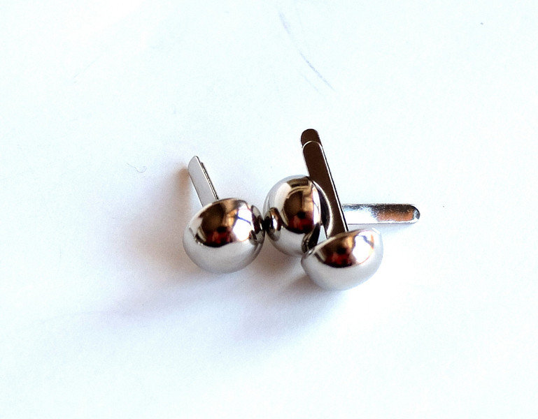 10 Perle PINS argentate PRL179
