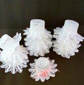20 pezzi bomboniera cappelli a smerlo semplici bianchi