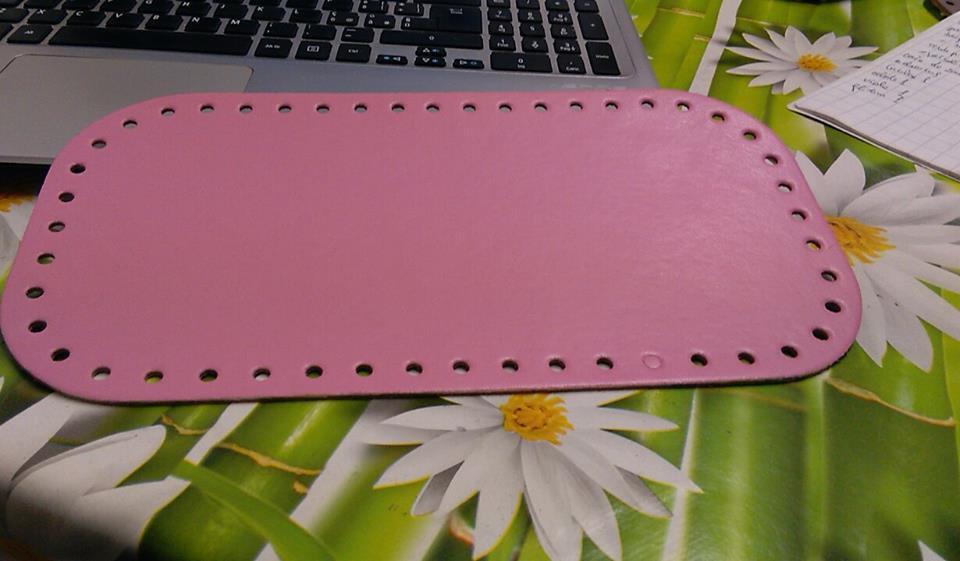 fondo rettangolare rosa pastello12x36