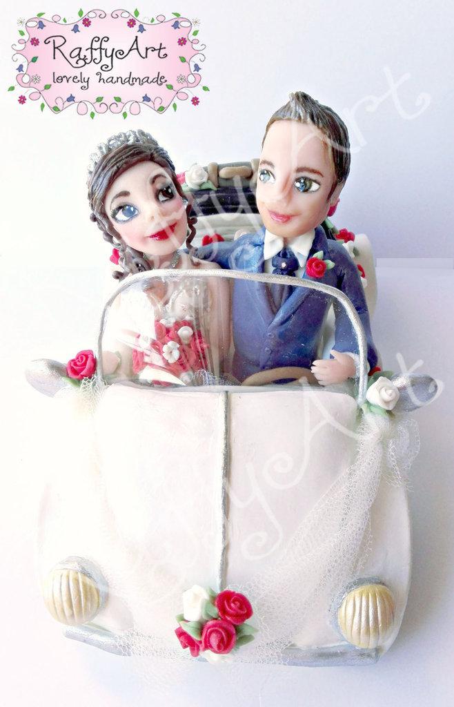 """Cake topper matrimonio """"Beatlelove (mod. 4)"""" (personalizzabile)"""
