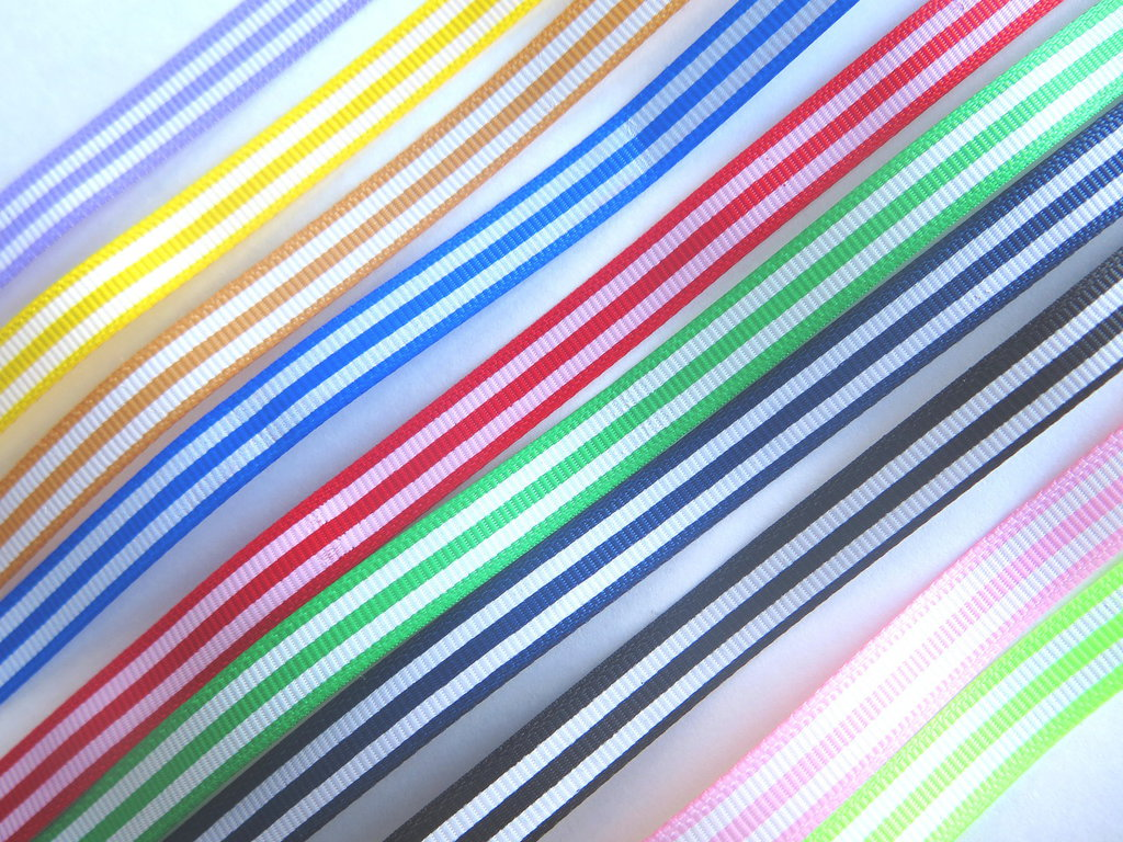 4 yard Nastro grosgrain RIGHE MIX  NA70