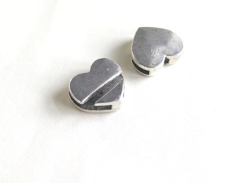 2 Slide Charms cuore PRL203