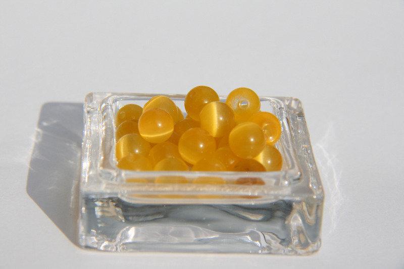 10 Perle vetro giallo PRL208