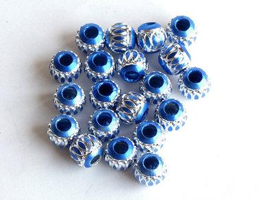 10 PERLE alluminio silver blu PRL209