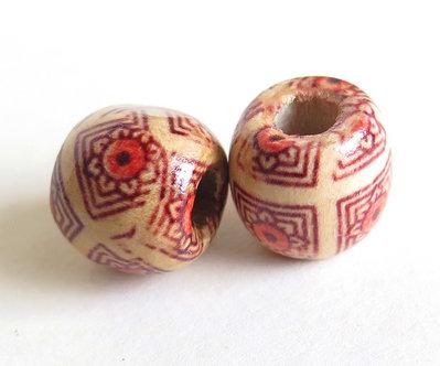 10 Perle di legno FANTASY PRL211