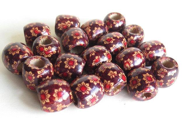 6 Perle di legno FANTASY BIG PRL215
