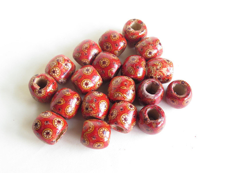 6 Perle di legno FANTASY BIG PRL217