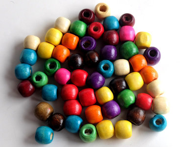 20 perle di legno MIX PRL225