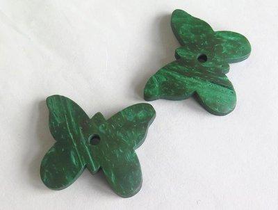 2 FARFALLE di legno verde PRL226