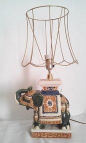 Grande lampada modernariato etnico elefante India