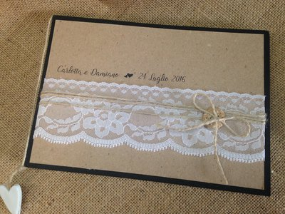 Guest book shabby country chic - piccolo