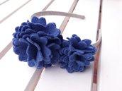 Un Cerchietto in tono blue in feltro by Little Rose Handmade