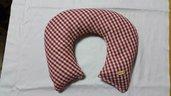 Cuscino terapeutico cervicale noccioli di ciliegia collo riscaldabile in forno o microonde