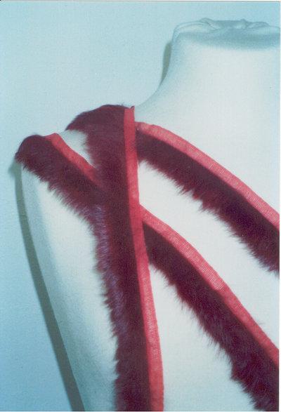 bordo in lapin rosso