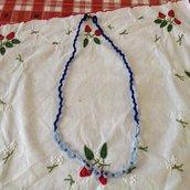 Collana  semplice blu/celeste