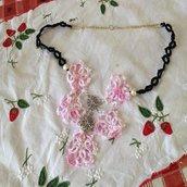 Collana fiore di cotone