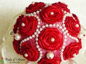 Bouquet rosso per matrimonio o regalo