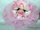 Bouquet rose e perle colore rosa