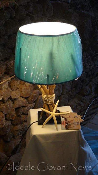 Lampada rami e corda