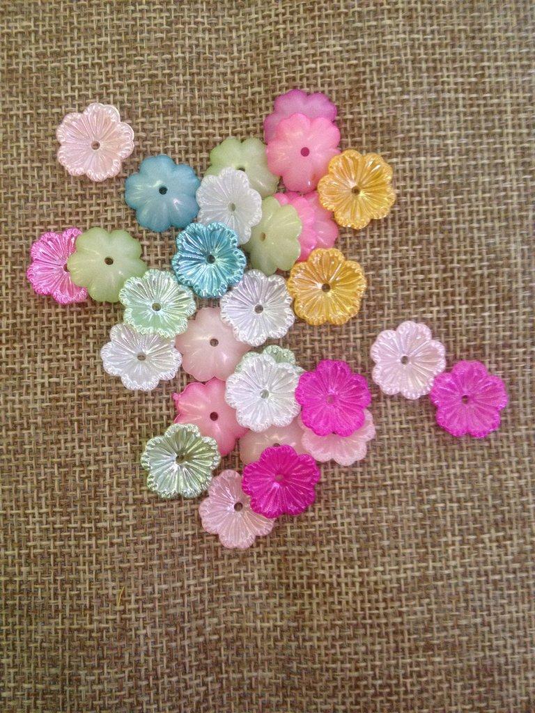 20 sotto perla colorate in resina 12 mm