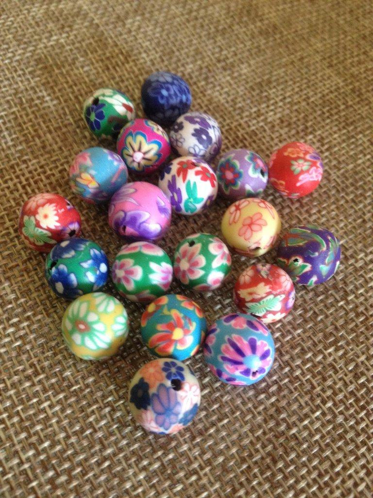 10 perle colorate a fiore in resina 10 mm, per decorare bracciali,collane, orecchini