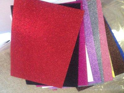 confezione da 10 fogli A4 di gomma crepla/eva con brillantini ideali per creazioni e lavoretti con i bambini