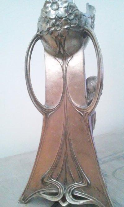 argento antico wmf art nouveau liberty jugendstil lampada da tavolo su misshobby. Black Bedroom Furniture Sets. Home Design Ideas