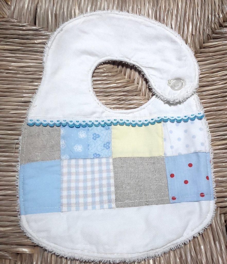 Bavetta neonato patchwork