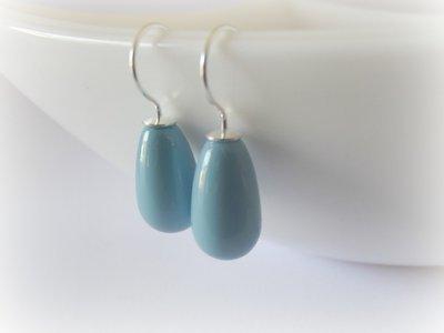 Orecchini a goccia in argento 925 e perle swarovski/orecchini in stile minimal da donna/orecchini con perle