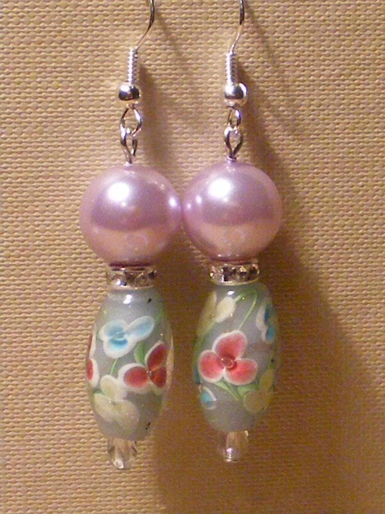 Orecchini perle fiorite