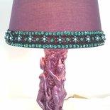 Lampada vintage vaso indiano viola bollywood etnico boho chic