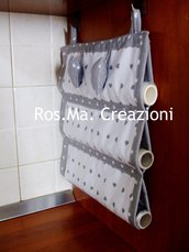 Porta Rotoli da Cucina per Carta Alluminio, Forno ecc.. in Stoffa Fatto A Mano