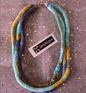 Girocollo in cotone multicolor