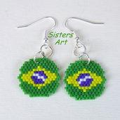"""Orecchini """"Brasil"""" realizzati con perline Miyuki delica"""