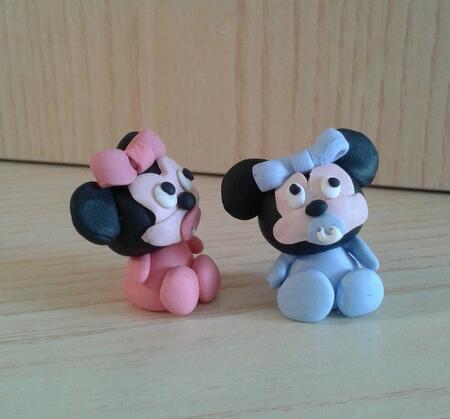 Bomboniera Baby Minnie e Topolino fimo